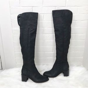 {Sam Edelman} Textured Leather Over The Knee Boots